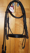 Bobby's BLACK Padded Custom MonoCrown NON Flash Bridle w/Reins -F/S - $154.00