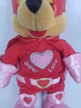 "Disney Store POOH Super Lover Love Valentine Plush Stuffed Bear 8"" image 2"