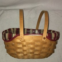 2004 Longaberger Get-Together Basket, Plastic Liner and Insert - $35.00