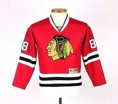 Blackhawks Jersey Reebok NHL Hockey Kane Shirt 88 Red Kids Children Size... - $17.81