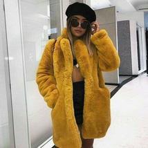 New Women Winter Faux Fur Coat Parka Casual Fluffy Long Sleeve Overcoat Jacket image 3