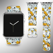 Scrooge McDuck Disney Apple Watch Band 38 40 42 44 mm Fabric Leather Strap 02 - $24.97