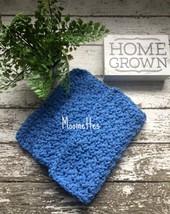 Handmade Kitchen Dish Cloths Cornflower Blue Crochet Cotton Dishcloths S... - $18.75