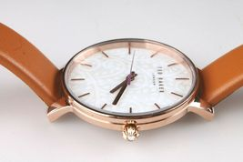 Ted Baker London TE50013007 Tan Genuine Leather Band & Rose-Gold-Tone Watch NWT image 4