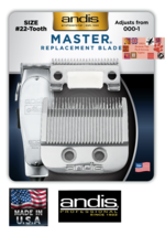 ANDIS Master Adjustable OEM Replacement Clipper Blade FIT:ML 01557 01690... - $39.36