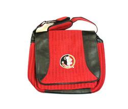 NCAA FSU Messenger Bag Closure Florida State Seminoles Doak Mesh Purse - $16.78