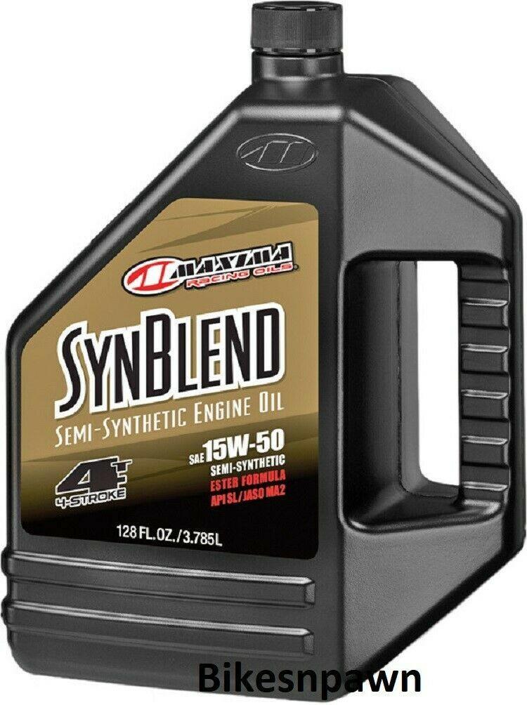 Maxima Syn Blend4 15W-50 1 Gallon 4 Stroke Motorcycle Motor Oil
