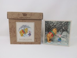Winnie the Pooh Hundred Acre Wood Shadow Box - Pooh & Piglet in the Snow - $28.49