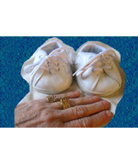 "Doll White Vinyl Tennis SHOES for 18"" Dolls Bears New 1996 Vintage Acces... - $12.99"