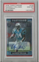 2006 Topps Chrome DeAngelo Williams Autograph #228 PSA 10 P514 - $82.16