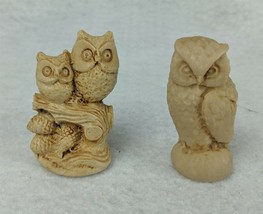 "Pair of Small Owl Figurines 2-1/2"" - $9.89"