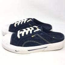 Womens 2001 Nike Hermosa 143028-471 Blue Denim Slip On Mule Sneakers Siz... - $49.99