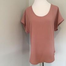 I Joah Premium Women's Top Blouse Small Pink Short Sleeve Scoop Neck U.S... - $20.79