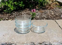 4 Vintage Anchor Hocking 6 oz Clear Glass Custard Dessert Cups Ramekins #424 - $21.99