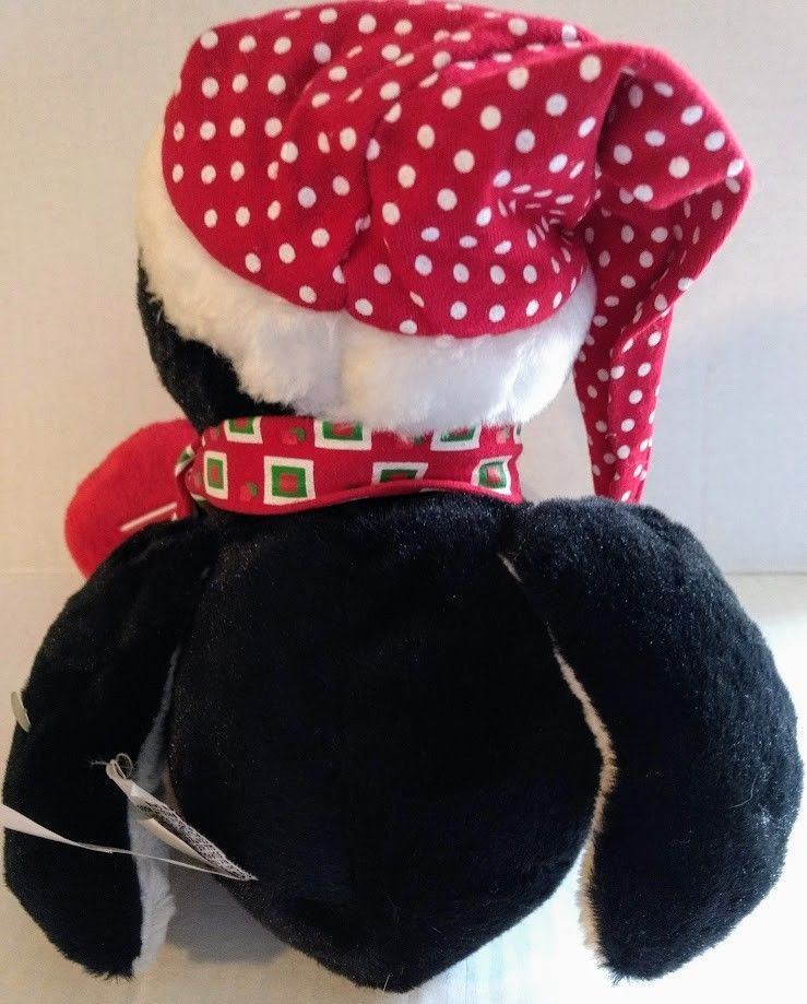 "Ganz Winter Friends Penguin Plush 14"" Christmas Toy Hat Scarf Soft Shelf Sitter"