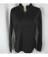 Avia Women's athletic track mesh 1/4 zip jacket small black - $19.79