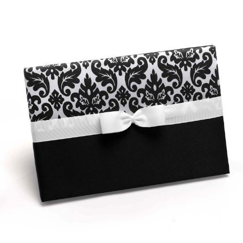 Hortense B. Hewitt Wedding Accessories Enchanted Evening Guest Book, Ebony, 9-1/