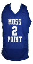 Devin Booker #2 Moss Point High School Basketball Jersey Sewn Blue Any Size image 1