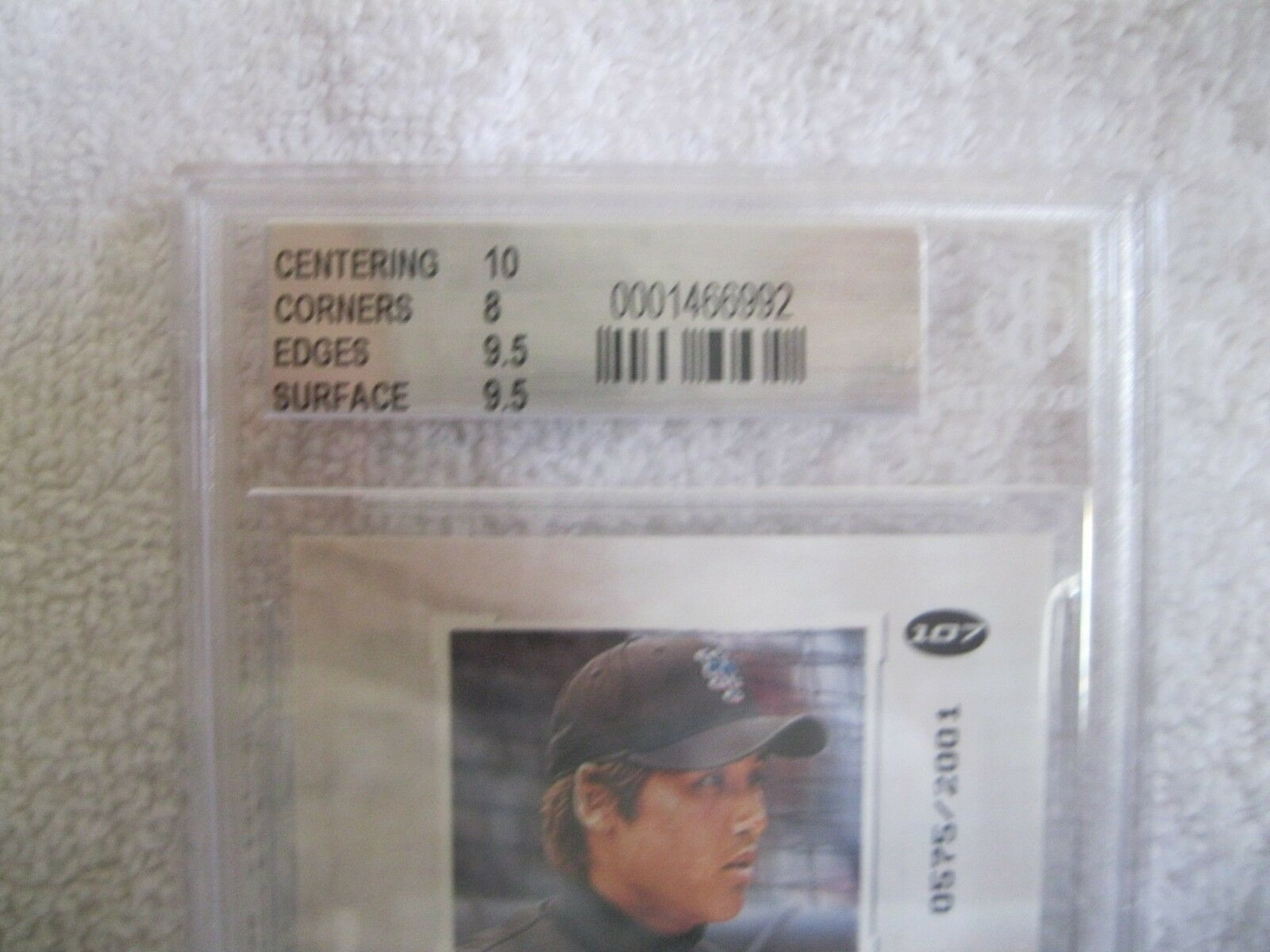 Brian Lawrence RC 2001 Fleer Rookie #598/2001 GRADED GEM MINT BGS 9.5-Padres RC image 7