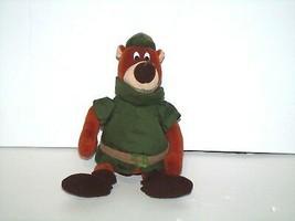 "Disney Plush Robin Hood Little John Brown Green Bear Bean Bag 8"" - $9.79"