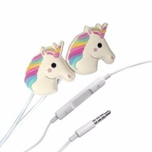 Unicorn Cartoon Headphones In Ear Headsets Earbuds Earphone For Smartpho... - $12.99