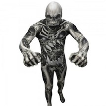 Morphsuit Teschio e Ossa Monster Adulto Body Halloween Costume di Qualità - $62.98