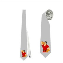 necktie tie gaston beauty and the beast villain neck tie cosplay wedding grooms  - $22.00