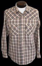 Vintage 70s Levi's Tapered Fit Shirt Plaid Button Front Western Hipster Large - $34.99