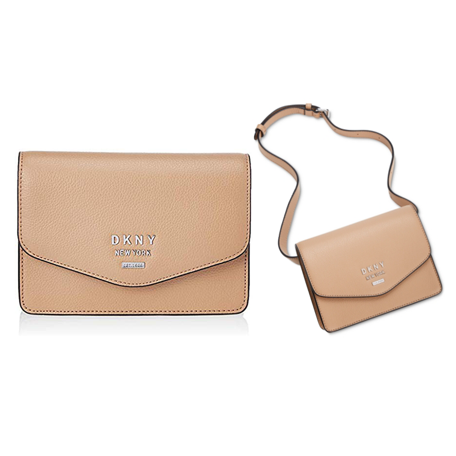 Primary image for DKNY Whitney Pebble Leather Belt Bag, Latte $98