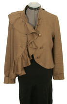 Anthropologie Ruffian Mise En Scene Well Wisher Jacket Ruffle Linen Silk Size 4 - $75.00