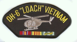 "OH-6 LOACH VIETNAM VETERAN EMBROIDERED 6"" SERVICE RIBBON MILITARY  PATCH - $15.33"