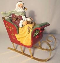 "Thomas Kinkade - ""A Visit from St Nicholas"" Figurine Sleigh - $40.00"