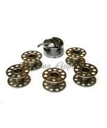 5 Metal Bobbins & Bobbin Case 6Pc Set  for Brother Machine XR35 XR37 XR4... - $13.41
