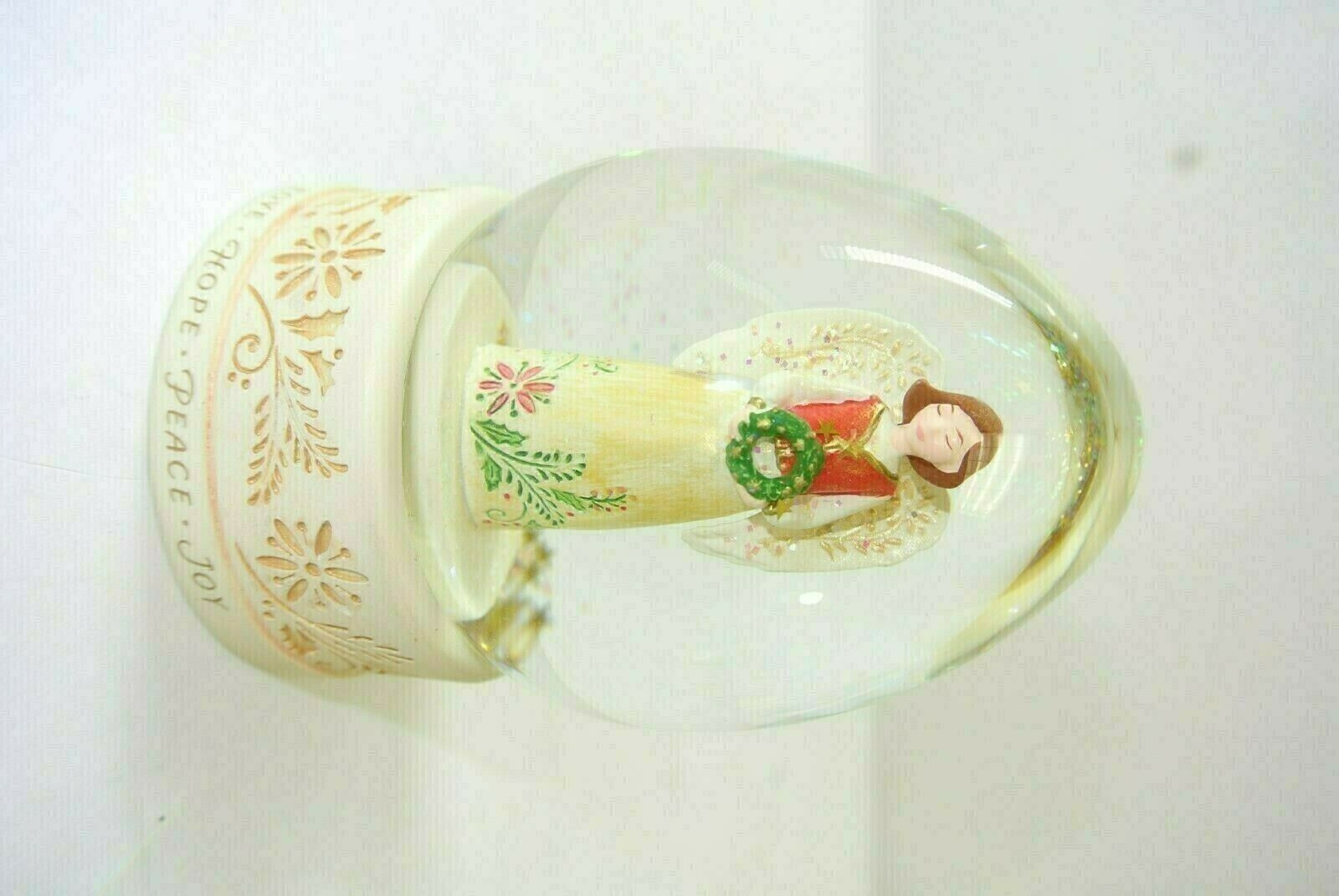 Primary image for 2007 Hallmark JOY TO THE WORLD SNOW GLOBE ~ Angels