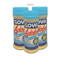 3 Pack Goya Adobo Light All Purpose Seasoning Without Pepper Sin Pimient... - $15.83