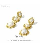 Yhpup® Earrings Women Dangle Earrings Imitation Pearls Vintage Zinc Allo... - $3.99