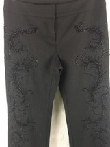 "Express Black Bead Embellished Wool Blend Dress Pants Size 1/2    30"" X 32"" - $17.63"