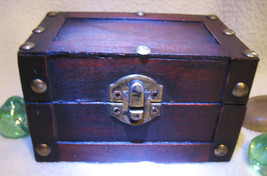 Haunted Chest 27x Magnifying Magick Recharge Energies Wood Chest Witch Cassia4 - $43.00