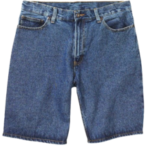Faded Glory Mens Relaxed Fit Denim Flat Front Shorts Big & Tall Wash Blue 46 - $12.99