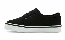 Cat & Jack Boys' Michael/Finn Black Canvas Casual Sneakers Brand New w Tags image 2