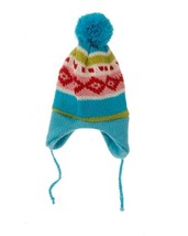 """8.75"""" Merry & Bright Nordic Blue Knit Ear Flap Winter Hat Christmas Orna... - $5.94"""