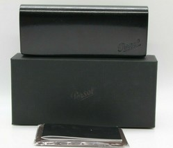 NEW PERSOL EYEGLASSES SUNGLASSES BLACK MAGNETIC LEATHER CASE CLOTH BOX D... - $32.26