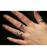Sterling Silver Cat Head and Tail Torque Ring Handmade by Welded Bliss -... - $19.54