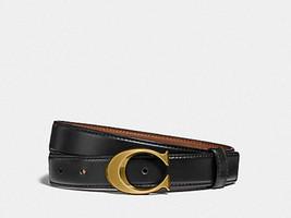 ❤️NWT Coach F83960 Signature Buckle Belt 25mm Size M or L Black pick 1 - $58.95