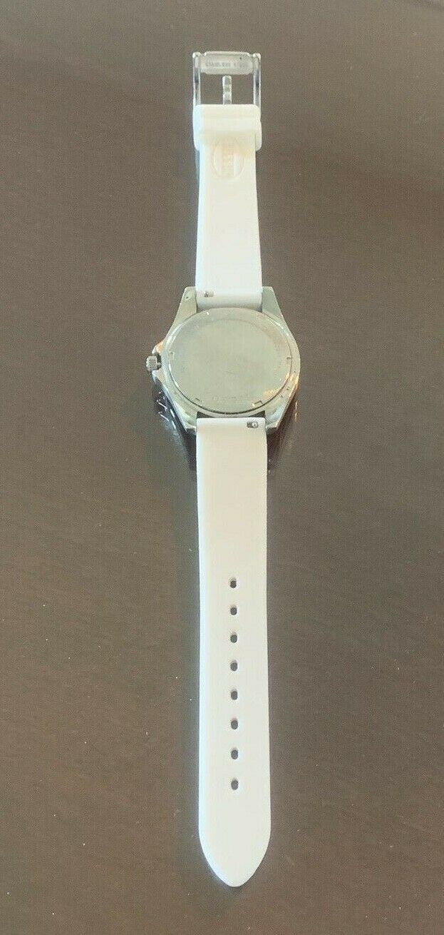 Fossil Ladies' Silicone Comfort Band Multifunction Watch White NEW BATTERY image 2