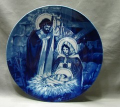 Holy Family Avon Blue & White Porcelain Collector Plate - $5.99