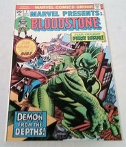 Vol 1 No 1 Oct 1975 Comic Book Marvel Presents Bloodstone First Issue - $49.49