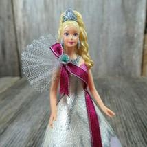 Celebration Barbie Ornament Christmas Hallmark 2005 Bob Mackie Blonde Pi... - $12.86