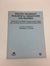 Master Technique Builders Vibraphone Marimba Mallet Percussion Book Cirone - $17.30