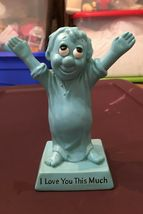 # I Love You This Much Rare Blue Figurine W&R Russ Berrie Statue Vintage 1970 - $15.00